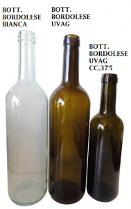 Bottiglia Bordolese da cc.750 Bianca e Verde e da cc.375 verde