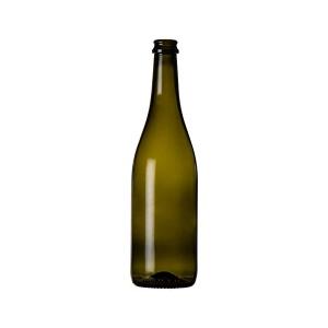 Bottiglia Emiliana tappo corona e tappo spumante cc.750
