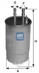 Filtro carburante 500, Punto 199, 51929061, 71773197, 77363657,