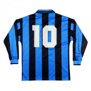 1994-95 Inter Maglia Home #10 Bergkamp Match worn L