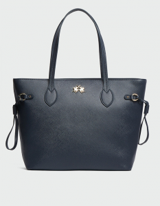 LA MARTINA SHOPPING BAG VALENTINA BLU NAVY