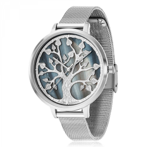 JULIE JULSEN TREE OF LIFE SILVER MESH Ø40