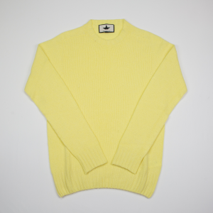 Maglione lime in lana garzata Macchia J