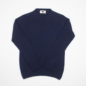 Maglione blu in lana garzata Macchia J
