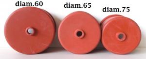 Cappellotto in gomma per airlock diam.60/65/75