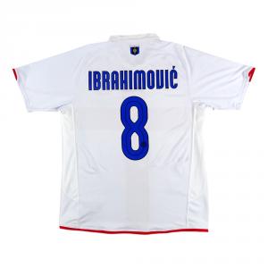 2007-08 INTER CENTENARIO MAGLIA #8 Ibrahimovic AWAY L (TOP)