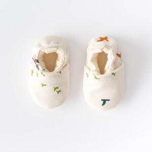 Scarpine neonato gabbiani in cotone biologico