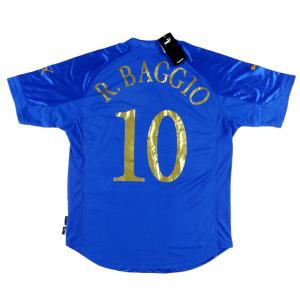 2004-06 ITALIA MAGLIA #10 Baggio HOME XL *Nuova