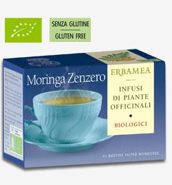 Moringa Zenzero Biologica Erbamea 20 bustine filtro da 1,2 gr