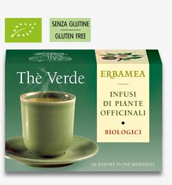 Thè Verde Biologico Erbamea 20 bustine filtro da 1,5 gr
