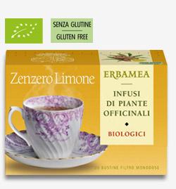 Zenzero Limone Biologici Erbamea 20 bustine filtro da 1,5 gr