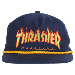 Cappello Thrasher Flame Rope Visiera Snapback Blue