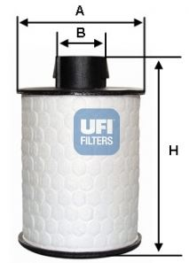 Filtro carburante Fiat Croma dal 2005, UFI, 60H2O00, 77365902, 6001073287,