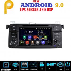 ANDROID 9.0 GPS DVD WI-FI Bluetooth Mirror-Link autoradio navigatore compatibile con BMW E46, BMW M3, Rover 75, MG ZT