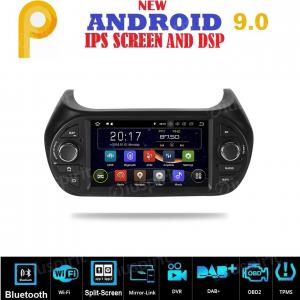 ANDROID 9.0 GPS DVD WI-FI Bluetooth Mirror-Link autoradio navigatore compatibile con Fiat Fiorino, Fiat Qubo, Citroen Nemo, Peugeot Bipper 2008-2015