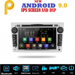 ANDROID 9.0 GPS DVD WI-FI Bluetooth Mirror-Link autoradio 2 DIN navigatore compatibile con Opel Antara/Zafira/Meriva/Astra/Corsa/Vivaro/Vectra/Tigra/Combo