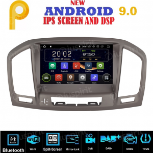ANDROID 9.0 GPS DVD WI-FI Bluetooth Mirror-Link autoradio navigatore compatibile con Opel Insignia/Vauxhall CD300, CD400 2009, 2010, 2011, 2012