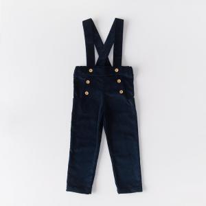 Pantalone in velluto di cotone biologico color blu notte