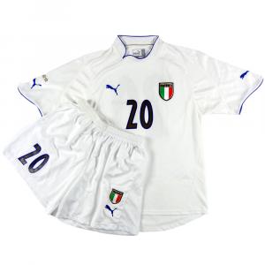 2003 Italia Maglia e pantaloncini Del Vecchio #20 Match Issue Away L (Top)