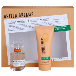 Benetton United Dreams Stay Positive Woman Eau De Toilette Spray 50ml Set 2 Parti 2019