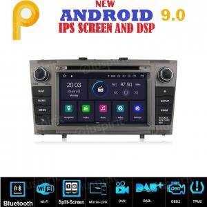ANDROID 9.0 GPS DVD WI-FI Bluetooth Mirror-Link autoradio 2 DIN navigatore compatibile con Toyota Avensis T27 2009-2013