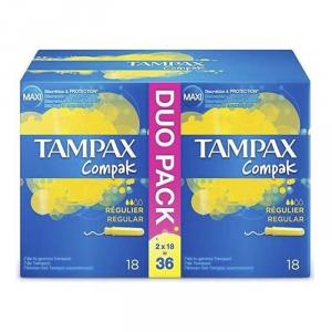 Tampax Compak Regular 2x18 Unità