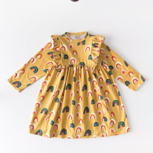 Rainbows, dress in organic cotton jersey