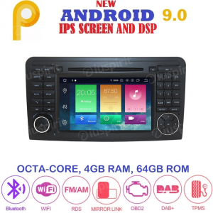 ANDROID 9.0 autoradio 2 DIN navigatore per Mercedes classe R W251/R280/R300/R320/R350/R500/R63/AMG 2006-2012 GPS DVD WI-FI Bluetooth MirrorLink