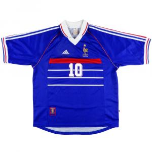 1998-00 Francia Maglia Zidane #10 XL (Top)