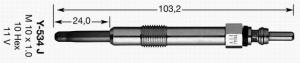 Candeletta preriscaldo FT82703, ( 46754154, GN41, Y534J, 0250202036)
