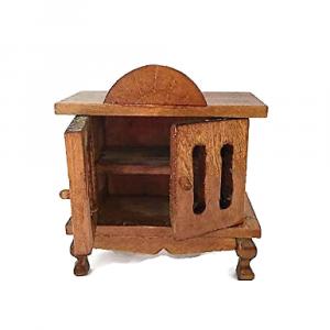 MOBILETTO con 2 ante in legno per la casa delle bambole