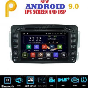 ANDROID 9.0 autoradio 2 DIN navigatore per Mercedes classe C W203, classe CLK W209, classe A W168, classe G W463, classe E W210, Vito/Viano GPS DVD WI-FI Bluetooth MirrorLink