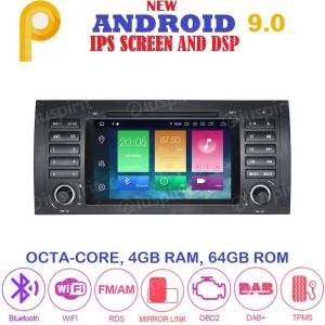ANDROID 9.0 GPS DVD WI-FI Bluetooth Mirror-Link autoradio navigatore compatibile con BMW E39, BMW X5 E53, BMW M5, BMW E38