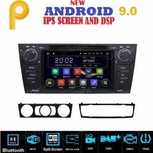 ANDROID 9.0 GPS DVD WI-FI Bluetooth Mirror-Link autoradio navigatore compatibile con BMW serie 3, BMW E90, BMW E91, BMW E92, BMW E93
