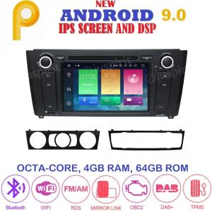 ANDROID 9.0 GPS DVD WI-FI Bluetooth Mirror-Link autoradio navigatore compatibile con BMW serie 1, BMW E81, BMW E82, BMW E88