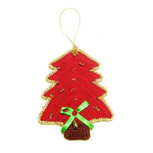 ALBERELLO rosso per Natale all'uncinetto