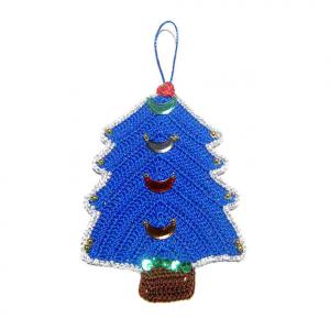 ALBERELLO blu elettrico per Natale all'uncinetto