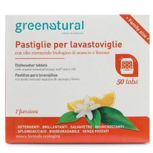 DETERSIVO PASTIGLIE LAVASTOVIGLIE ARANCIA E LIMONE Green Natural