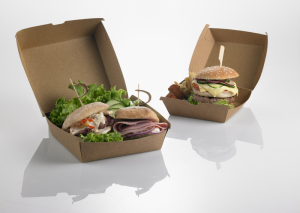 Scatole Hamburger con chiusura