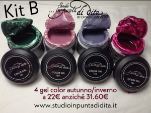 Kit B - 4 gel color autunno/inverno 2019/20