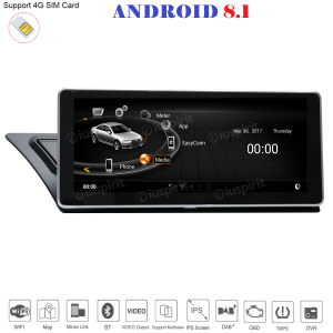 ANDROID 8.1 GPS WI-FI Bluetooth Mirror-Link 2GB RAM 32GB ROM navigatore 10.25 pollici compatibile con Audi A4/A5/S5/RS4/RS5/8K/B8/8T/4L 2008-2016 MMI