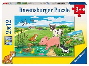 Cuccioli di campagna 2x12 pz ravensburger puzzle 3+