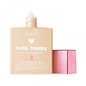 Benefit Hello Happy Soft Blur Foundation Spf15 2 Light Brown 30ml
