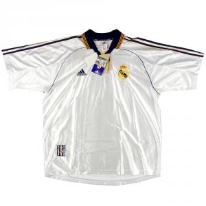 1998-00 Real Madrid Maglia Home XL *Nuova
