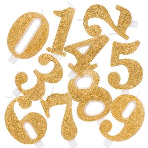 Candeline glitter oro