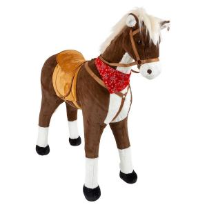 Cavallo da equitazione XL con suono marrone