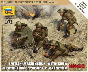 British Machinegun With Crew 1939-1942