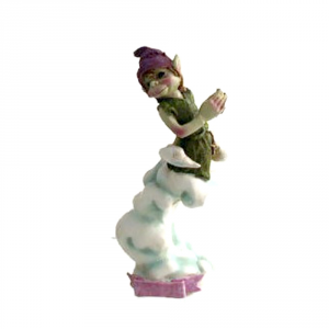 Statuetta Pixie in resina colorata