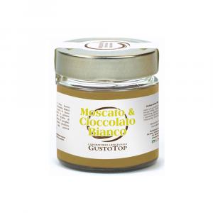 Crema al Cioccolato Bianco e Moscato confezionato in vasetto da 200 gr