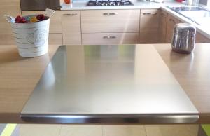 Spianatoia in acciaio inox con battente 3 misure